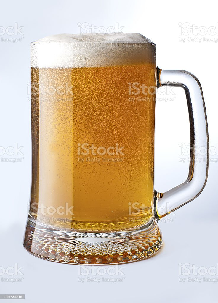 Beer isolated on a white background stock photo