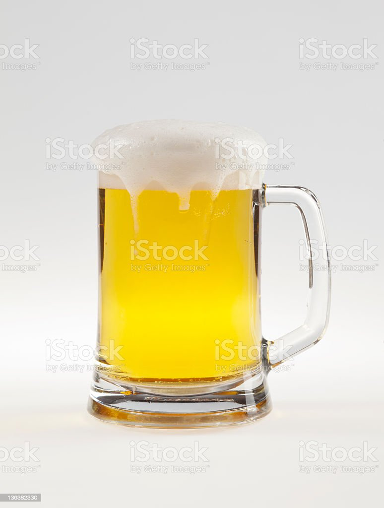 beer isolated on white background with path stock photo