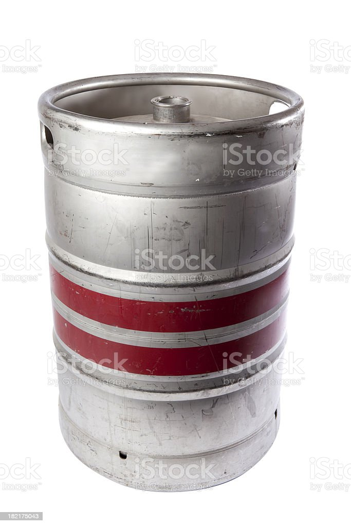 Beer Keg ready for a party, with clipping path stock photo