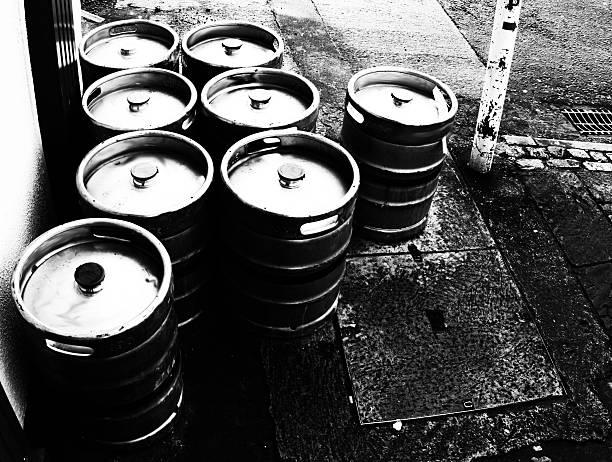 Beer Kegs In Westport, Ireland stock photo
