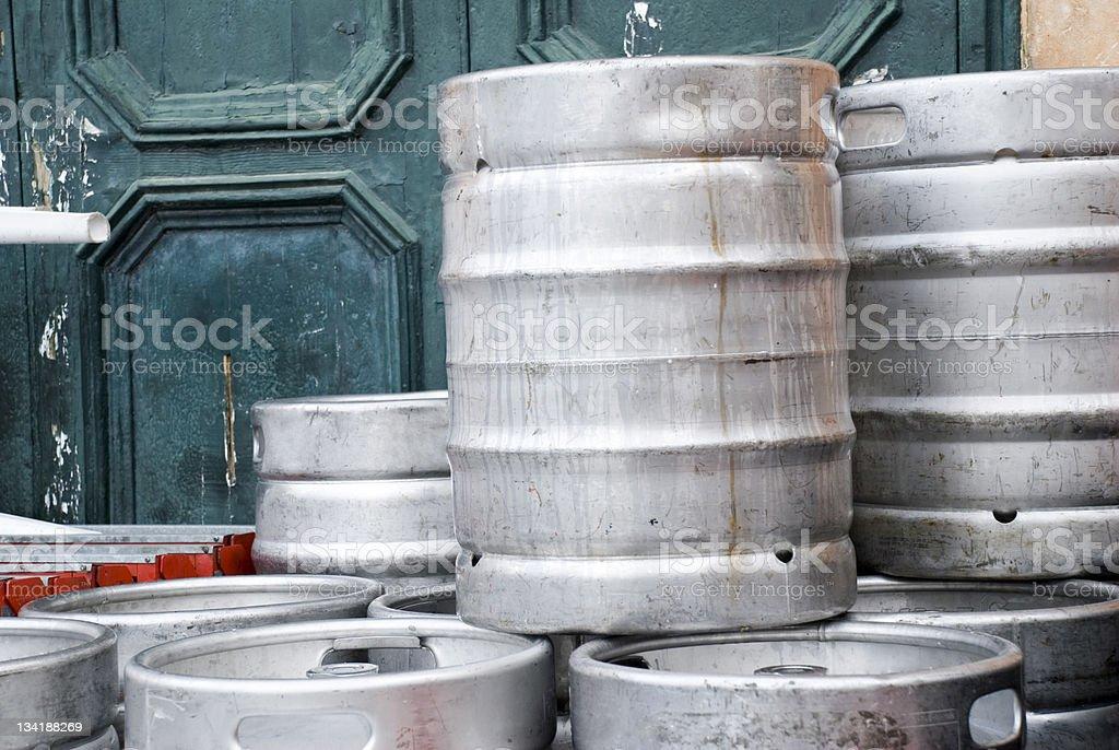 Beer Kegs stock photo