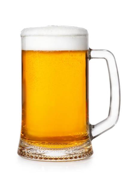 Cerveza taza Aislado en blanco - foto de stock