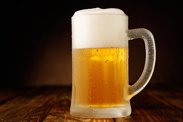 Beer mug stock photo