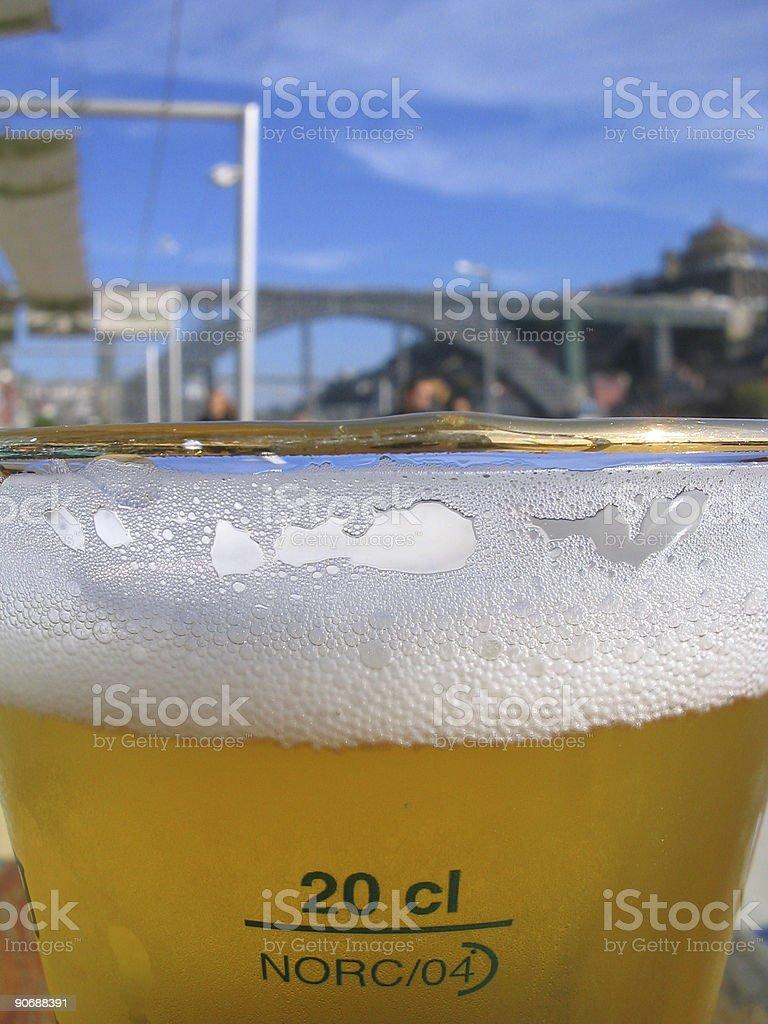Beer near the bridge royalty-free stock photo