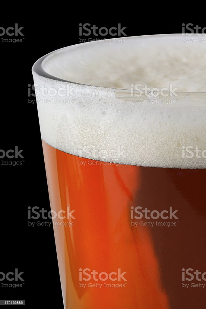 Beer on Black royalty-free stock photo