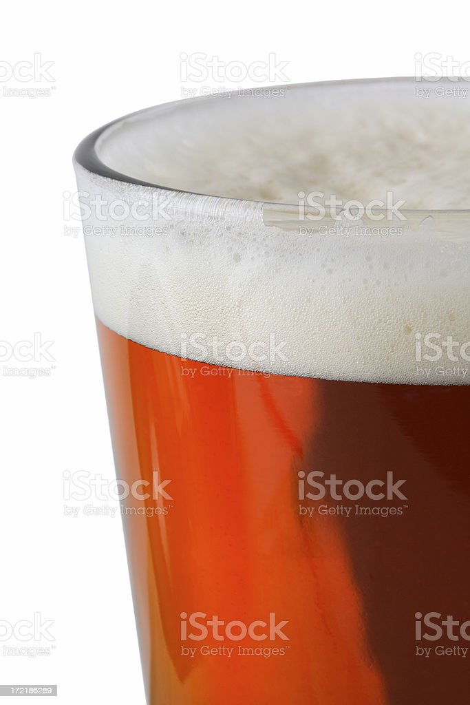 Beer on White royalty-free stock photo