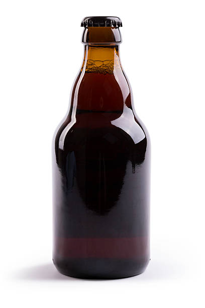 beer (clipping path) - dark beer stock photos and pictures