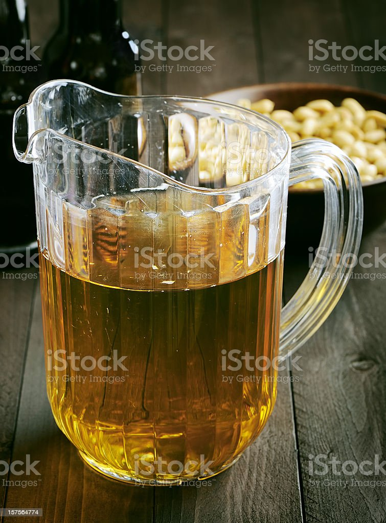Beer pitcher stock photo