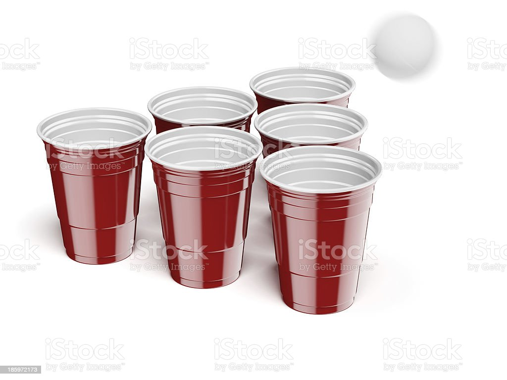 Beer Pong Drinking Game stock photo