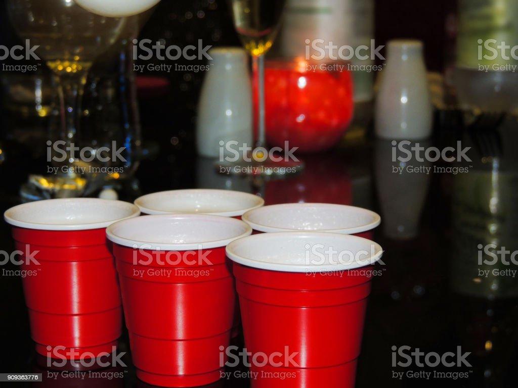 Jogo de Pong de cerveja no Natal - foto de acervo