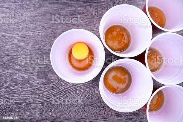 Beer Pong Game Stock Photo - Download Image Now
