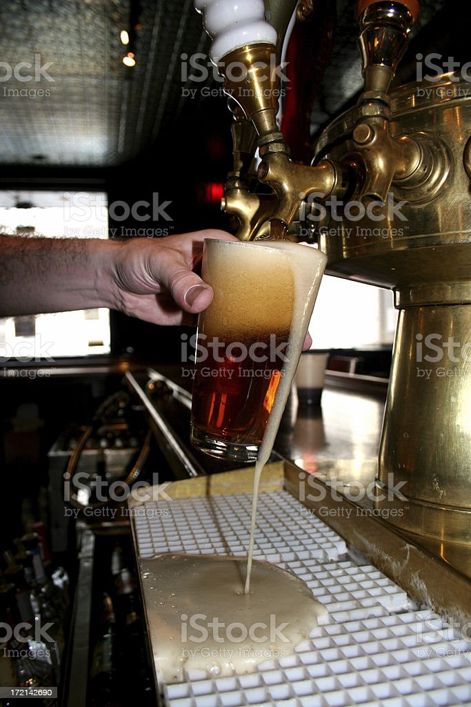 Beer pour royalty-free stock photo