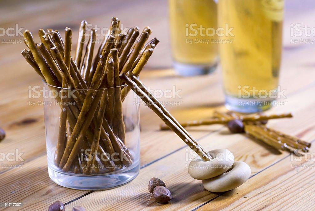 Beer salt sticks royalty-free stock photo