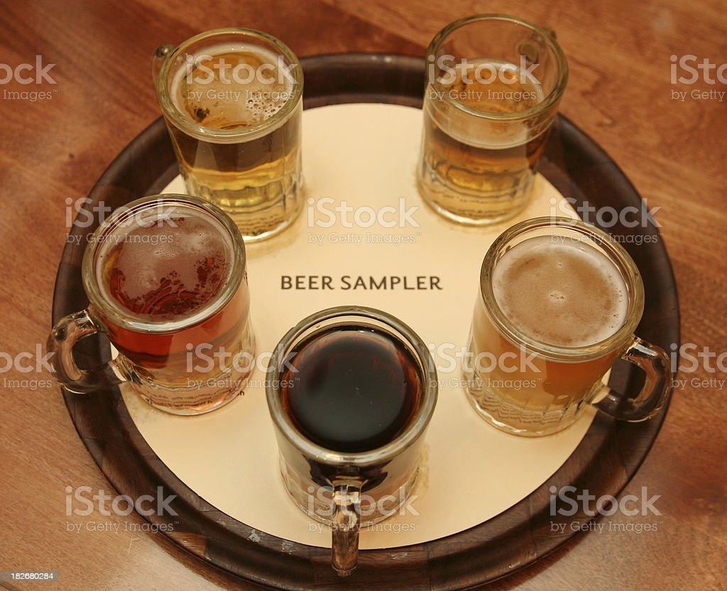 Beer Sampler royalty-free stock photo