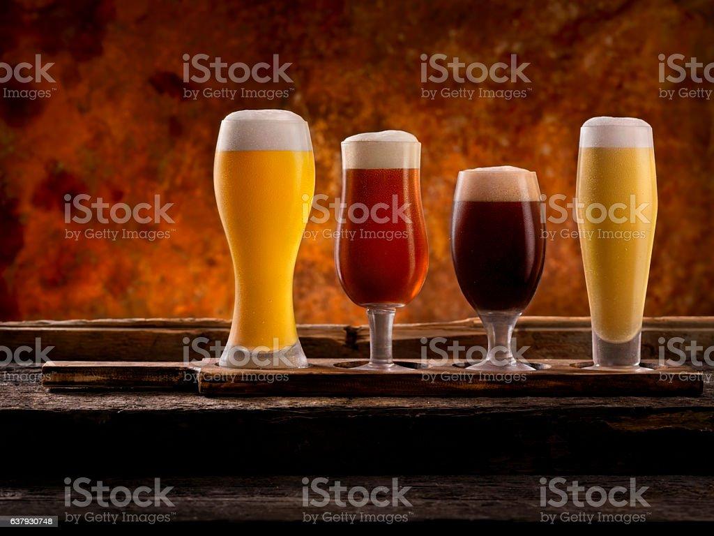 Beer Samplers stock photo