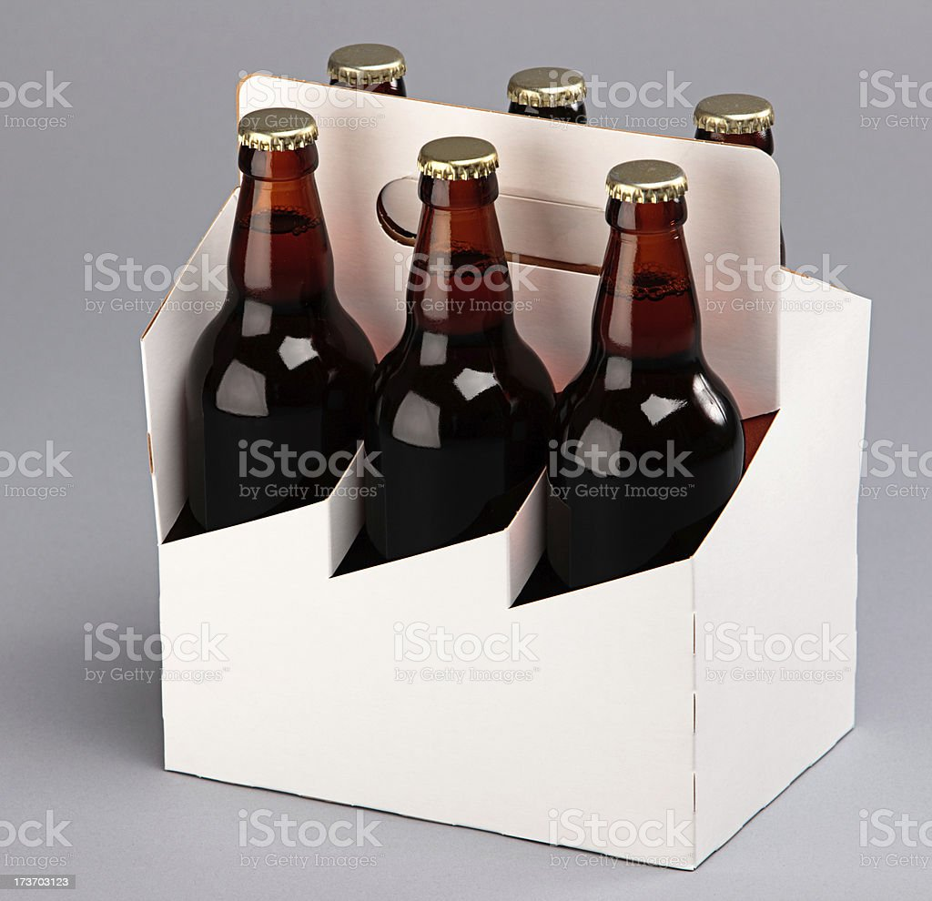 beer six pack royalty-free stock photo