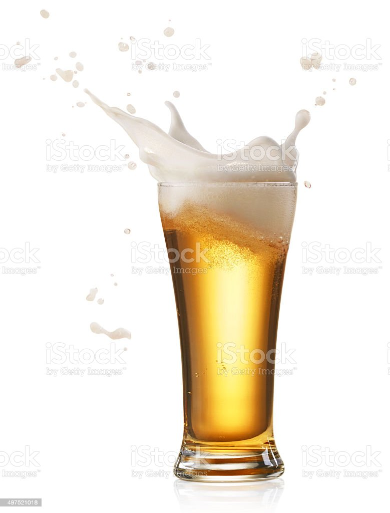 beer splash stock photo
