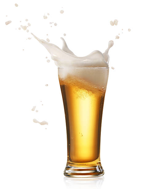 beer splash - beer glass stock photos and pictures
