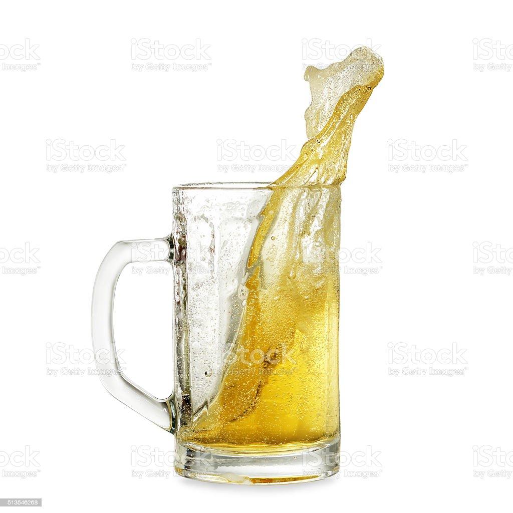 beer splash stock photo