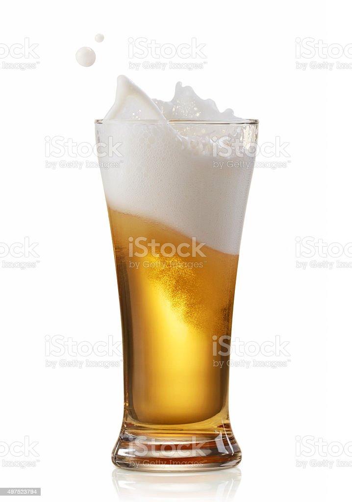 beer splashing stock photo