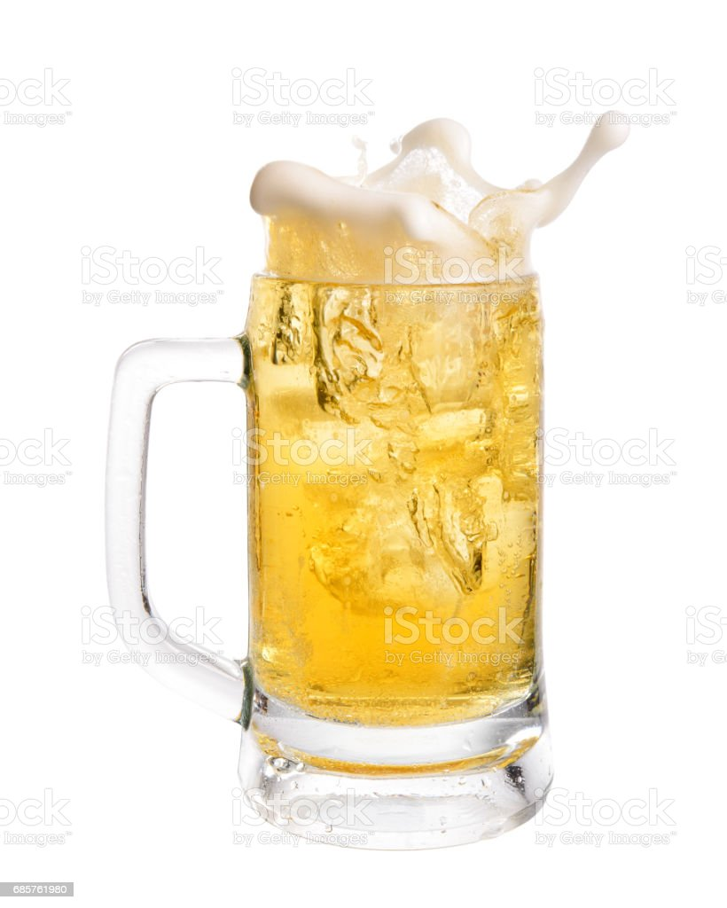 Bier spatten royalty free stockfoto