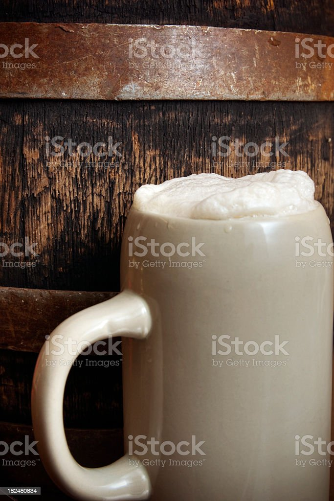 Beer Stein and Keg stock photo
