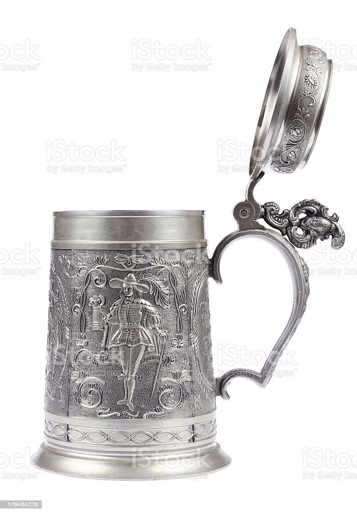 Beer stein made of tin stock photo