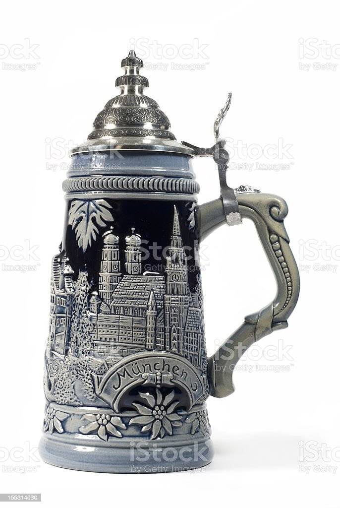 beer stein stock photo