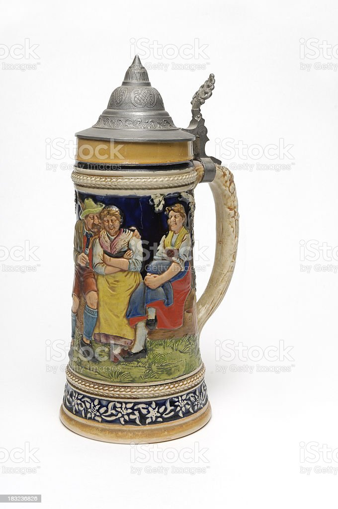 Beer Stein with White Background (2) stock photo