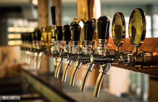 istock Beer tab on the bar. 924139774