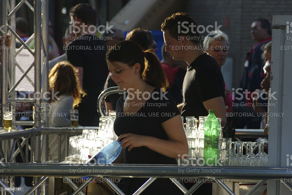 Beer tap at the World Music Concours event Kerkrade royalty-free stock photo