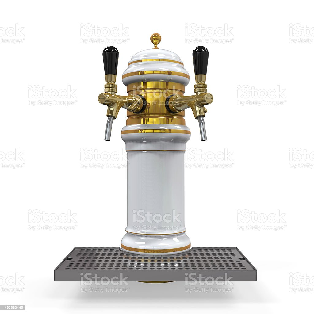 Beer Tap Isolated stock photo