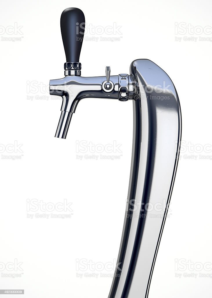 Beer Tap Single Isolated stock photo