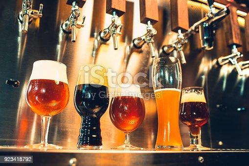 istock Beer taps in a pub 923418792
