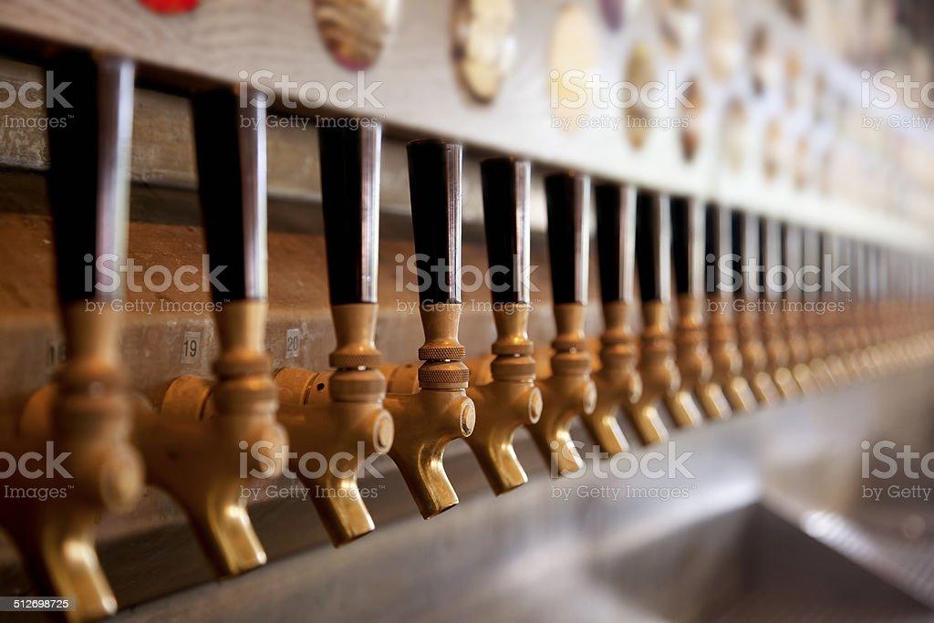 Beer Taps stock photo