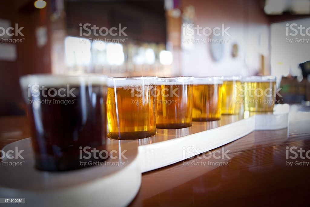 Beer taster or sampler at a brewery royalty-free stock photo