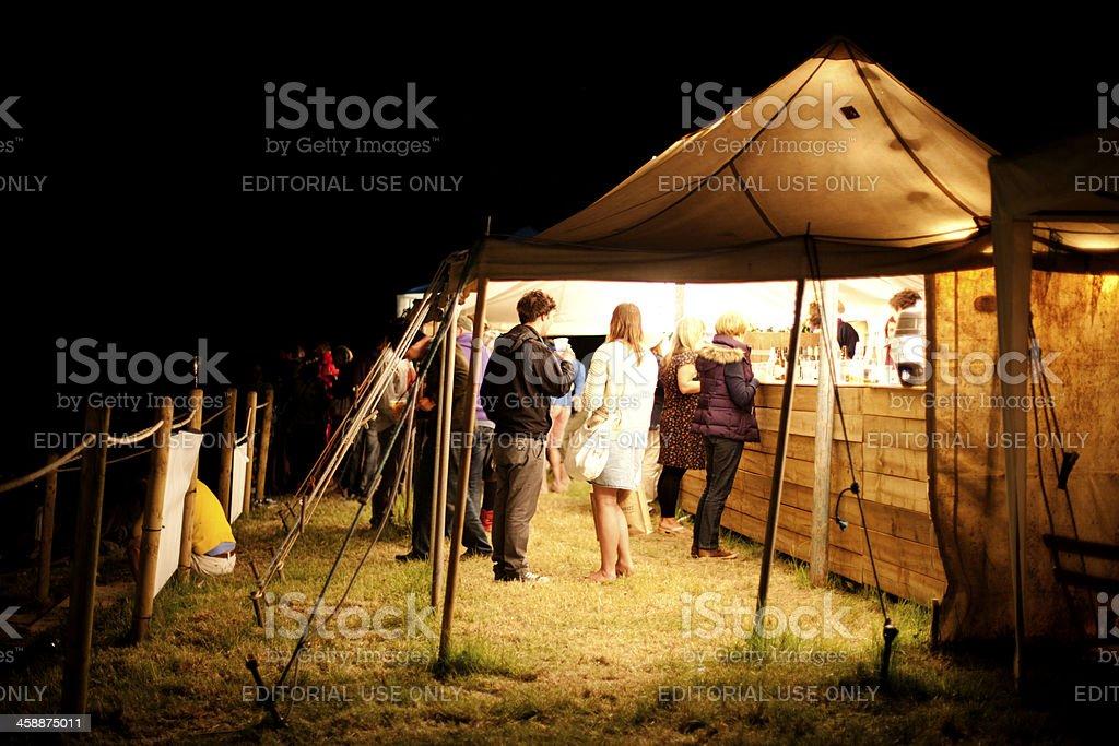 Beer tent stock photo