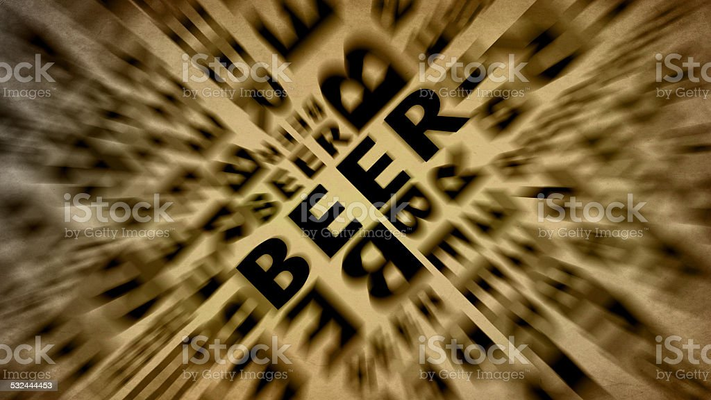 beer text retro vintage wallpaper stock photo