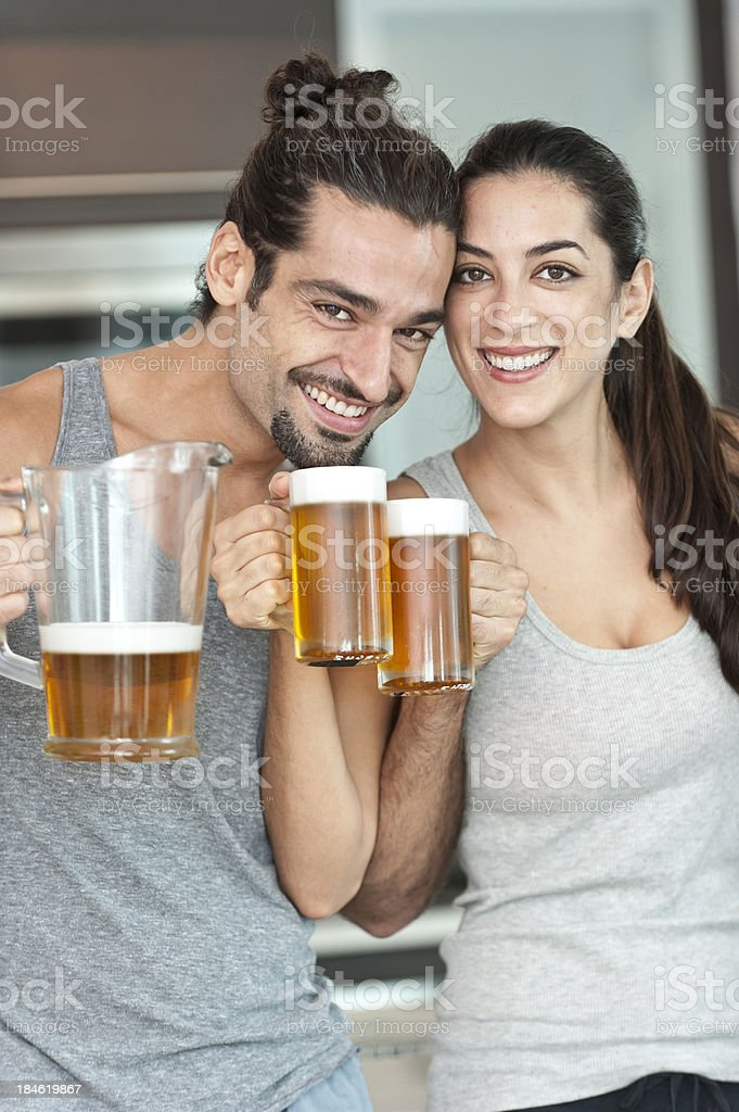 Beer time royalty-free stock photo