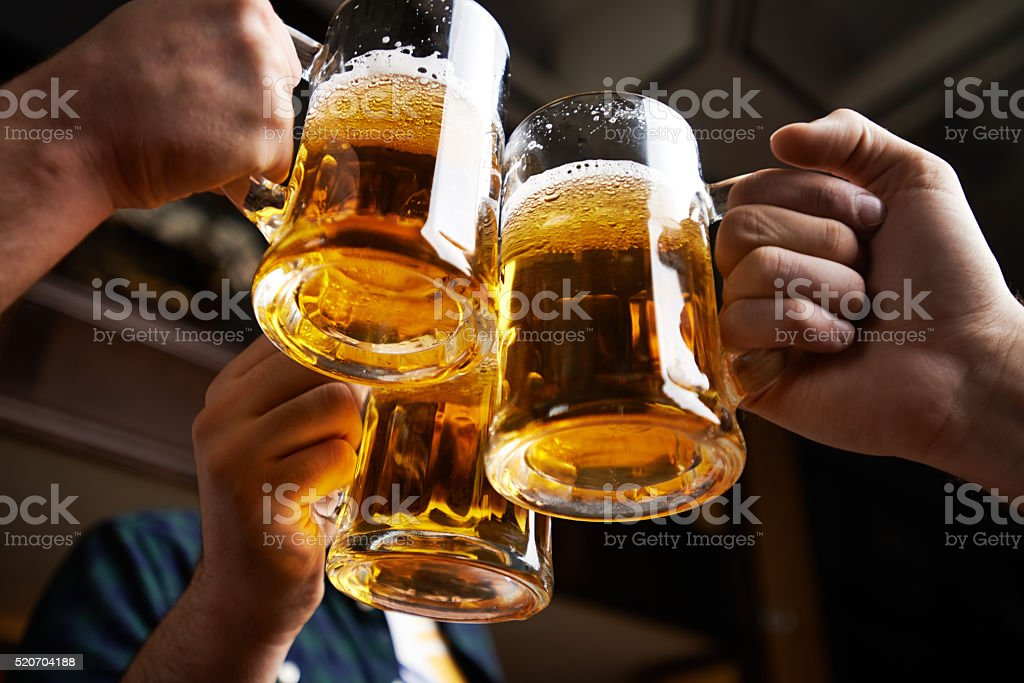 Beer toast stock photo