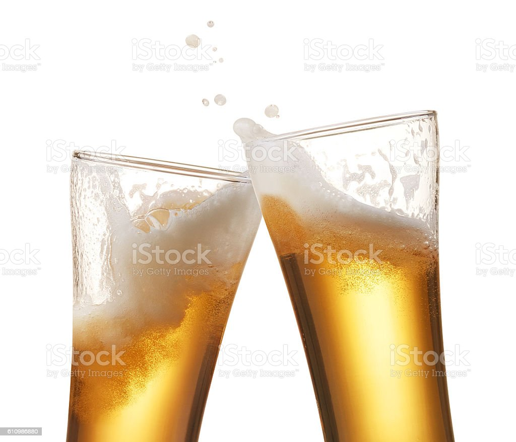 beer toasting stock photo