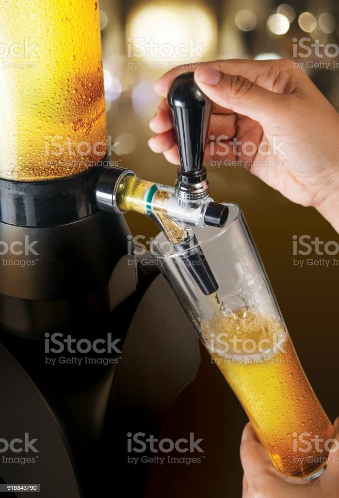 Beer tower stock photo