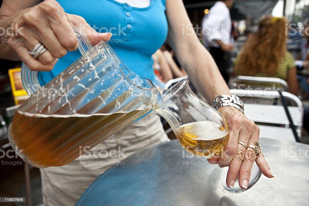 Beer Waitress Bar Maid stock photo