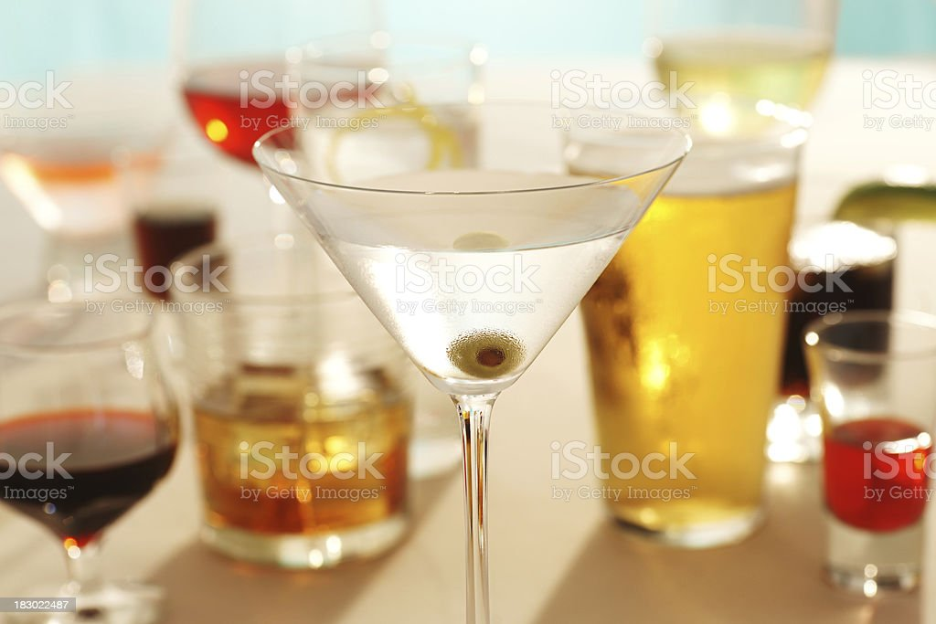 Beer, Wine and Spirits stock photo
