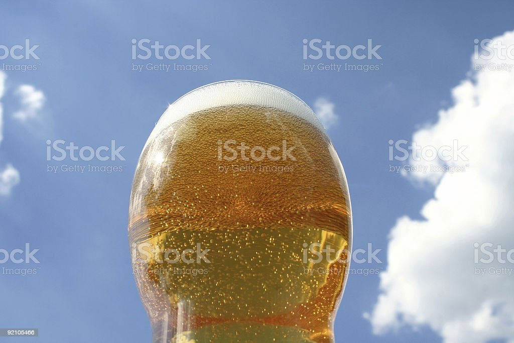 Beer with blue sky royalty-free stock photo