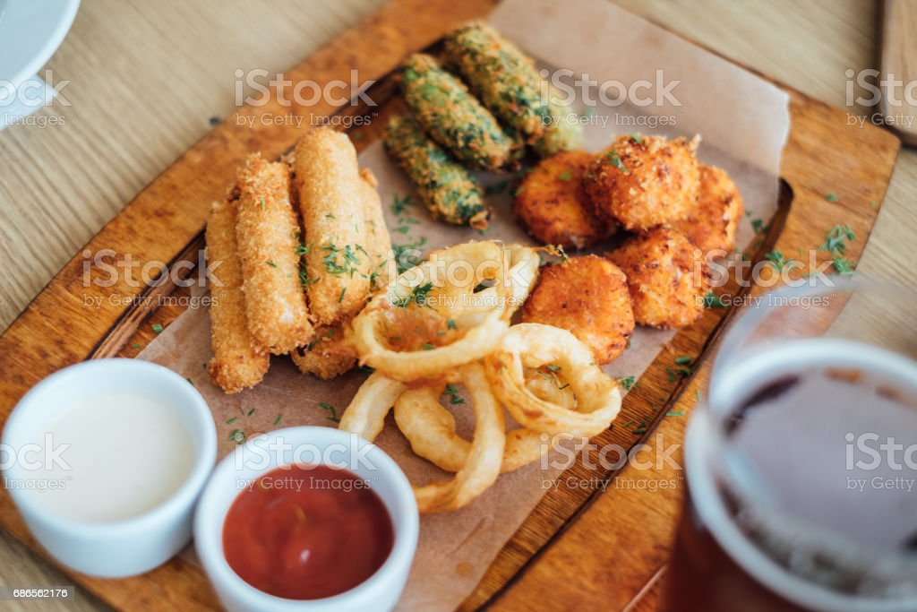 beer with cheese snacks royalty-free stock photo
