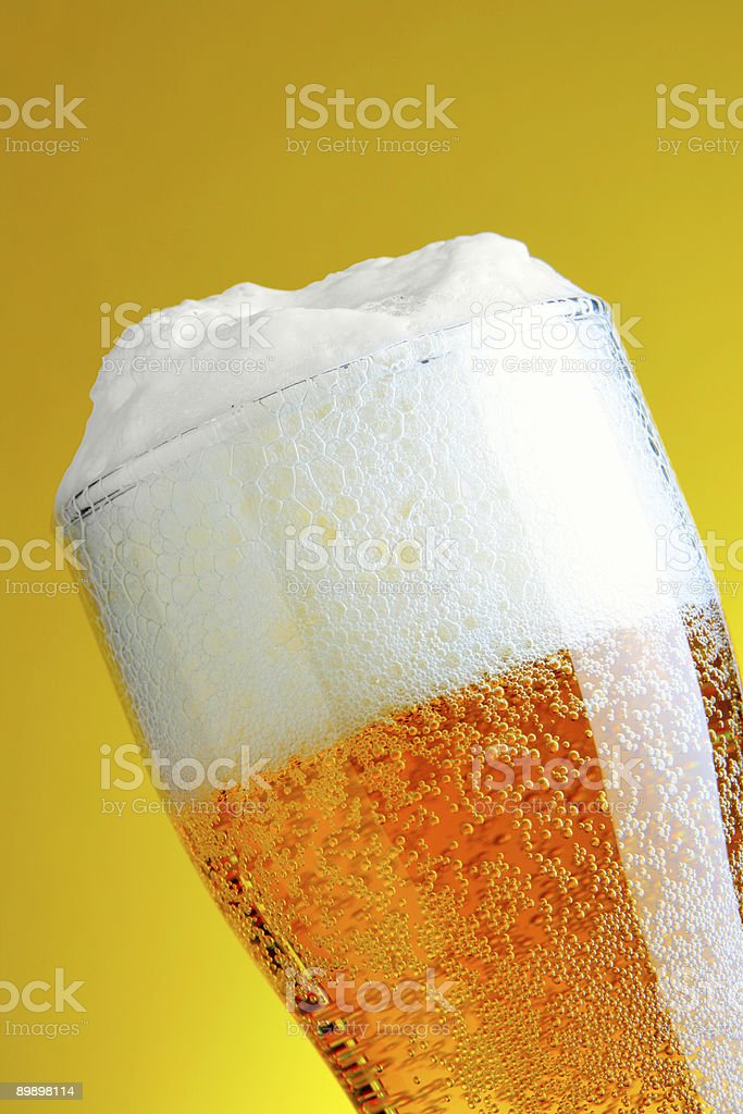 Beer with froth royalty-free stock photo