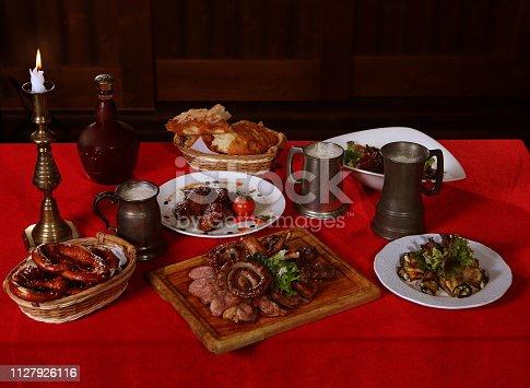 istock Beer with Nemetsimi sausages 1127926116