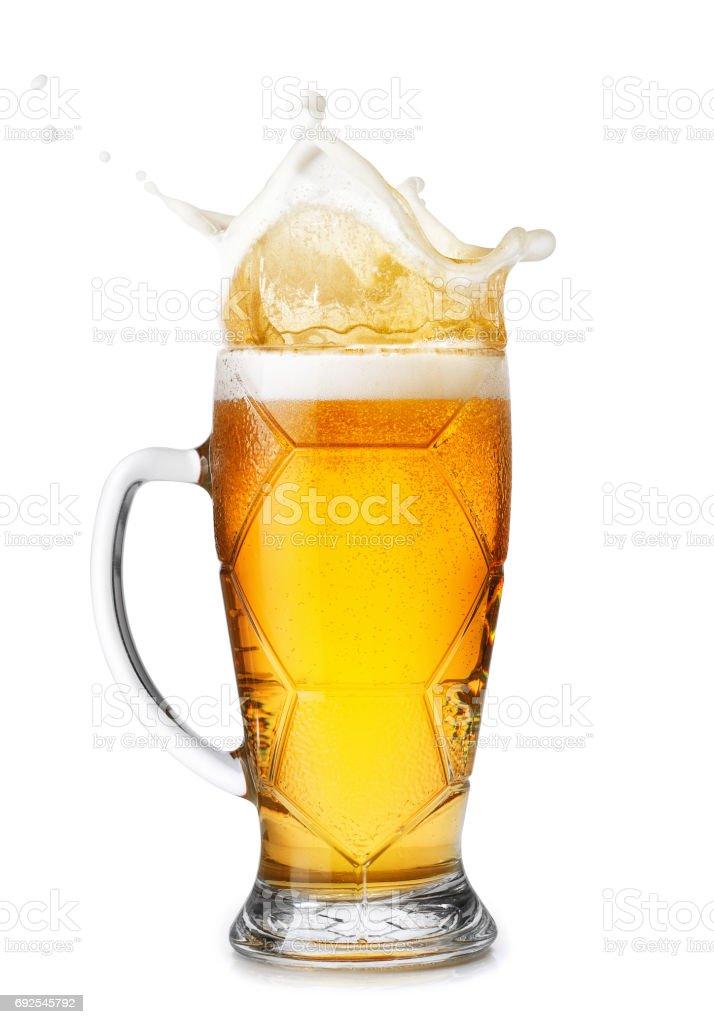 cerveja com salpicos - foto de acervo