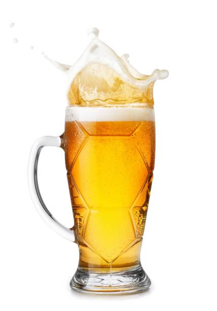 Bier mit Spritzern – Foto